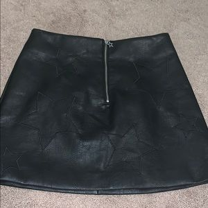 Star Leather Skirt